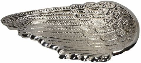 Solid Silver Metal Angel Wing Dish
